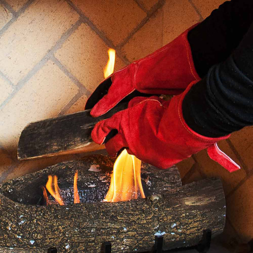 FlameX Deluxe Fireplace Gloves - Pair
