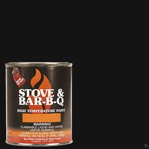 High Temperature Paint- Satin Black 16 oz