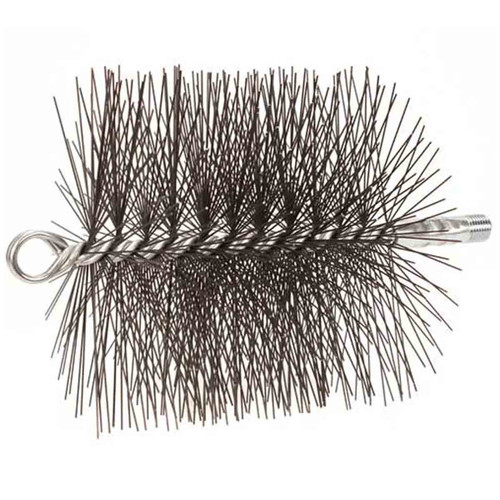 6'' Round Light-Duty (Wire) Chimney Brush 1/4'' NPT