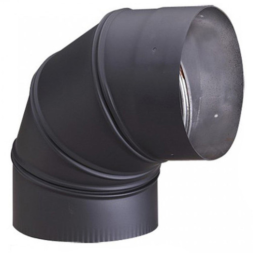 6'' HeatFab 90 Degree Adjustable Black Elbow - 2614AB