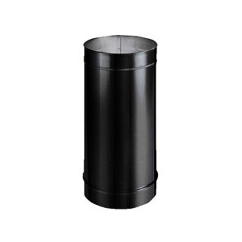 7'' x 12'' HeatFab Single Wall Black Stovepipe - 2702B