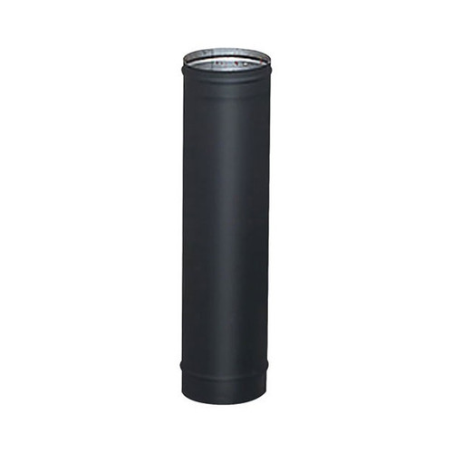 7'' x 18'' HeatFab Single Wall Black Stovepipe - 2704B