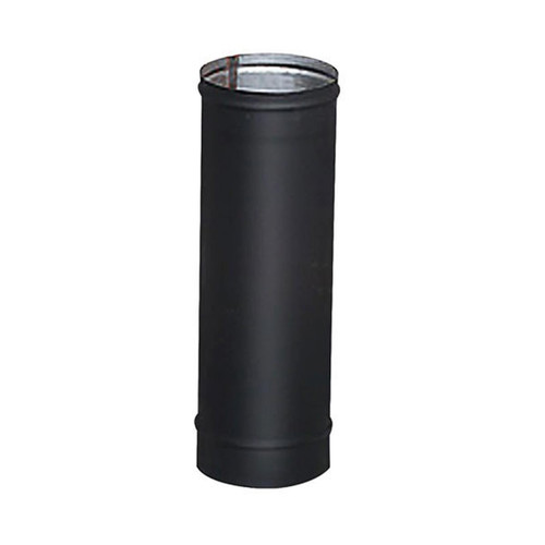 8'' x 18'' HeatFab Single Wall Black Stovepipe