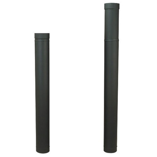 8'' HeatFab 38'' to 70'' Adjustable Black Stovepipe - 2806B