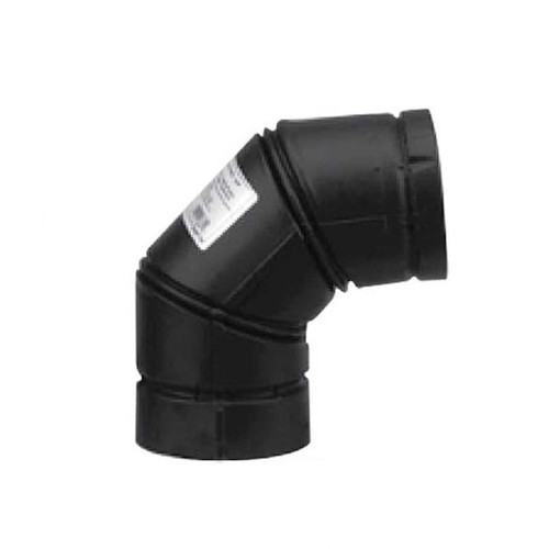 3'' Selkirk VP Pellet Vent Pipe 90 Degree Elbow - Black - 3VP-90-ELB