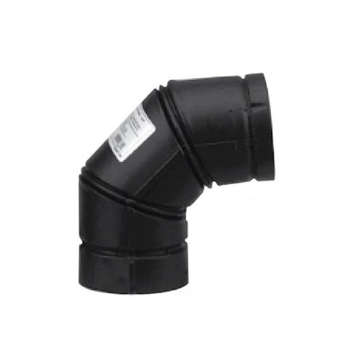 4'' Selkirk VP Pellet Vent Pipe 90 Degree Elbow - Black - 4VP-90-ELB