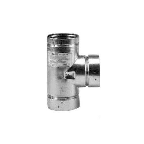 4'' Selkirk VP Pellet Vent Pipe Tee with Tee Cap