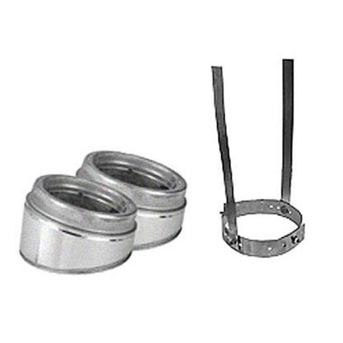 8'' Selkirk 15 Degree Galvanized Elbow Kit - 208206G