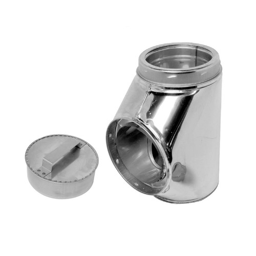 8'' Selkirk Stainless Insulated Tee With Tee Plug - 208100