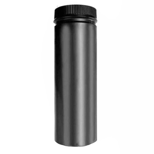 6'' x 24'' DSP Double Wall Black Stovepipe - DSP-6P24