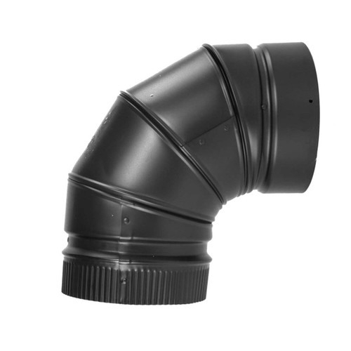 8'' DSP Double Wall 90 Degree Black Elbow