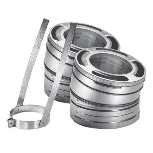 6'' DuraPlus 15 Degree Galvanized Elbow Kit - 6DP-E15