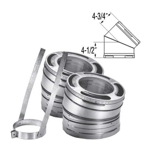 6'' DuraPlus 30 Degree Galvanized Elbow Kit - 6DP-E30