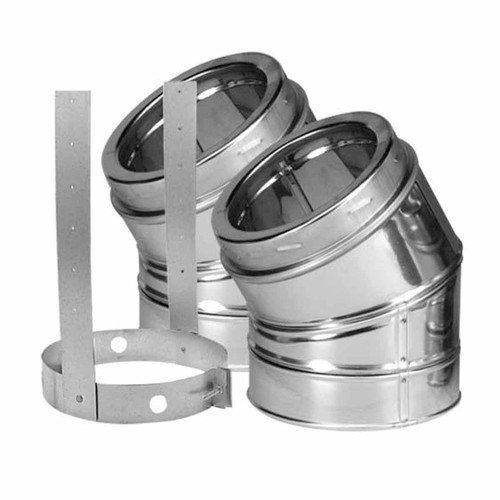 6'' DuraTech 30 Degree Stainless Steel Elbow Kit