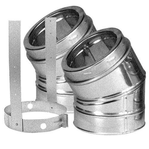 8'' DuraTech 30 Degree Galvanized Elbow Kit