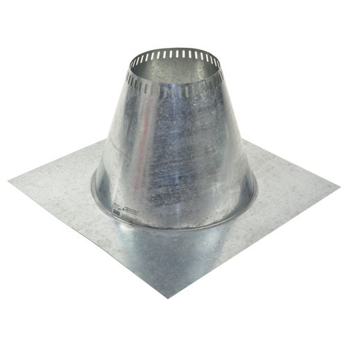 Shasta Vent 6 Inch Ventilated Roof Flashing - Flat
