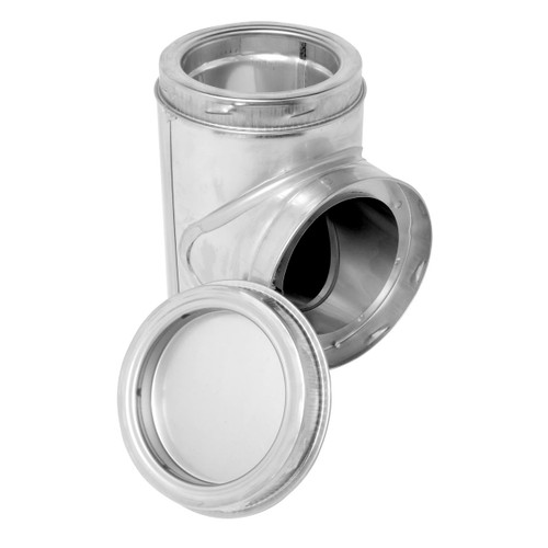 5'' SuperPro Stainless Steel Insulated Tee with Plug - SPR5ITP