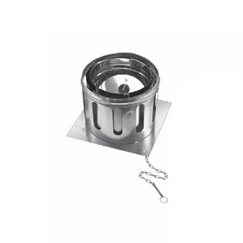 12'' DuraChimney II Anchor Plate with Damper - 12DCA-APD