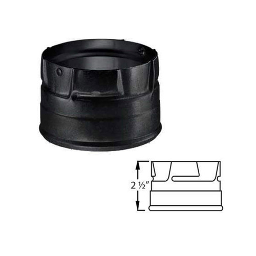 3'' PelletVent Pro Black Clean-Out Tee Cap - 3PVP-COB1