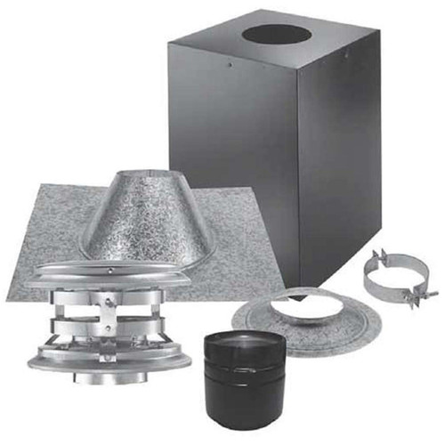 3'' PelletVent Pro Cathedral Ceiling Vertical Kit - 3PVP-KVB