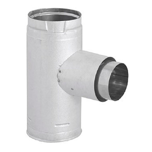 3'' PelletVent Pro Increaser Adapter Tee with Clean-Out Tee Cap - 3PVP-TADX4