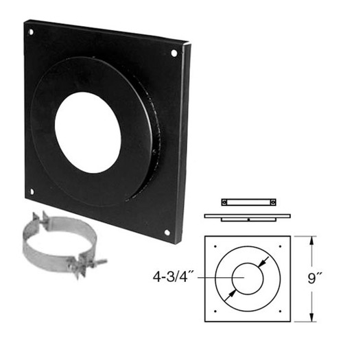 4'' PelletVent Pro Ceiling Support Firestop Spacer - 4PVP-FS