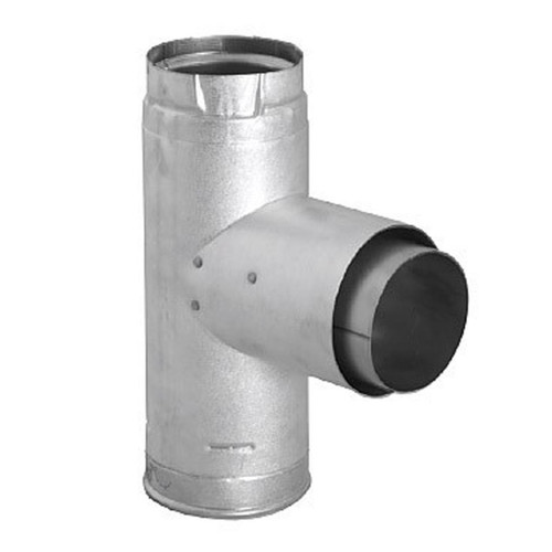 4'' PelletVent Pro Adapter Tee with Clean-Out Tee Cap - 4PVP-TAD