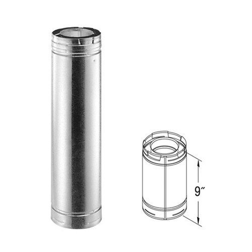 5'' x 8'' DirectVent Pro 9'' Galvanized Chimney Pipe - 58DVA-09