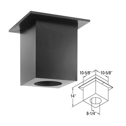 5'' x 8'' DirectVent Pro Cathedral Ceiling Support Box - 58DVA-CS