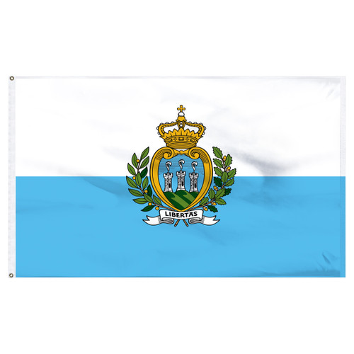 San Marino 2' x 3' Nylon Flag With Seal