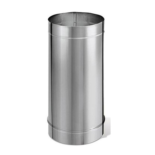 """6"""" x 24"""" DuraBlack Stainless Steel Single-Wall Pipe - 6DBK-24SS"""