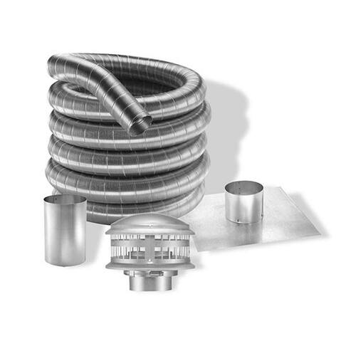 6'' DuraFlexAL 35' Aluminum Gas Chimney Liner Kit - 6DFA-35K