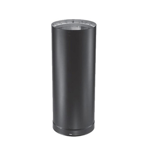 6'' x 12'' DVL Double-Wall Black Stove Pipe - 6DVL-12