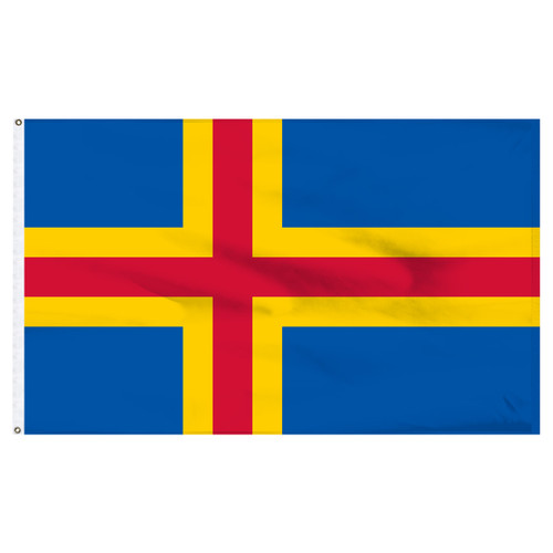 Aland Islands 3' x 5' Nylon Flag