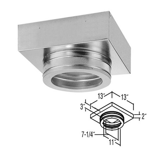 7'' DuraTech Flat Ceiling Support Box - 7DT-FCS