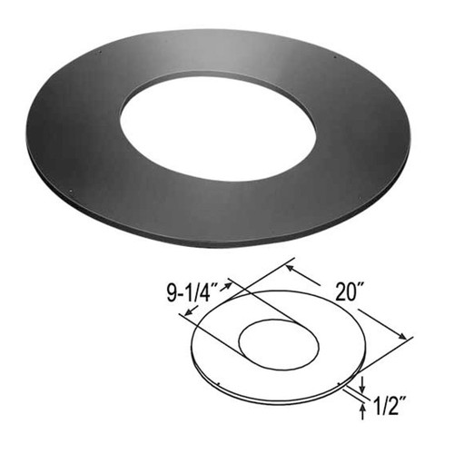 7'' DuraTech 0/12 - 3/12 Roof Support Trim Collar - 7DT-RSTC3