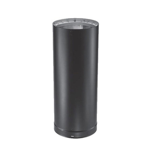 7'' x 12'' DVL Double-Wall Black Stove Pipe - 7DVL-12