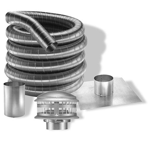 8'' DuraFlexAL 35' Aluminum Gas Chimney Liner Kit - 8DFA-35K