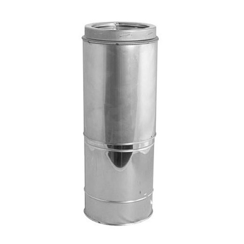 8'' DuraTech Adjustable Stainless Steel Chimney Pipe