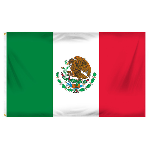 3ft x 5ft Mexico Flag - Printed Polyester