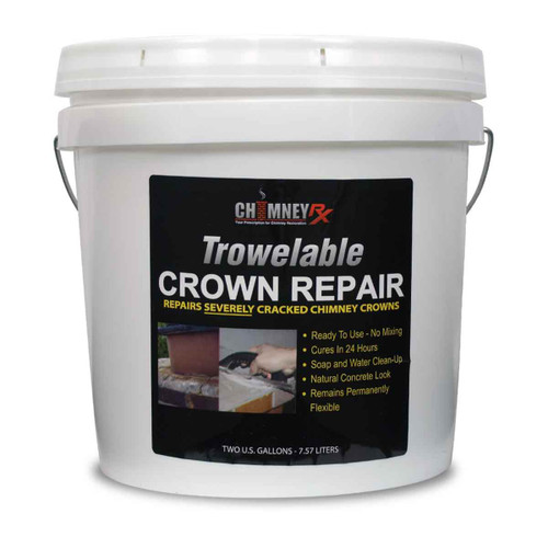 ChimneyRx Trowelable Masonry Fireplace Crown Repair - 2 Gallons