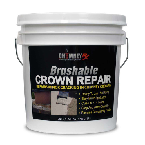 ChimneyRx Brushable Masonry Fireplace Crown Repair - 1 Gallon