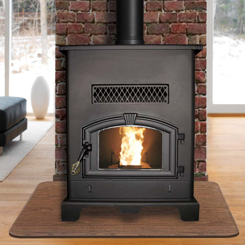 U.S. Stove Large Pellet Stove with Ash Pan