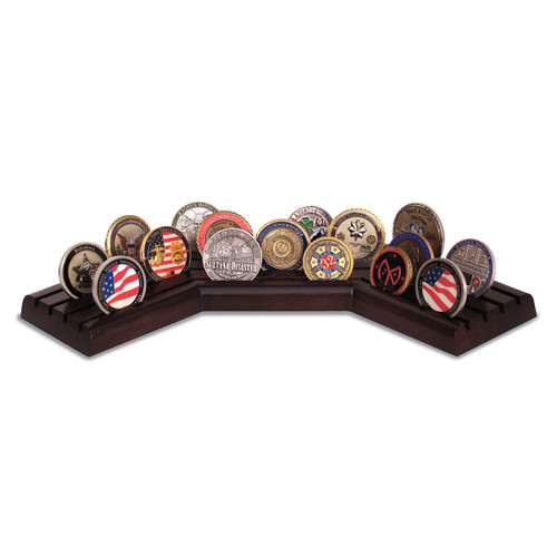 Walnut Challenge Coin Case - Stadium