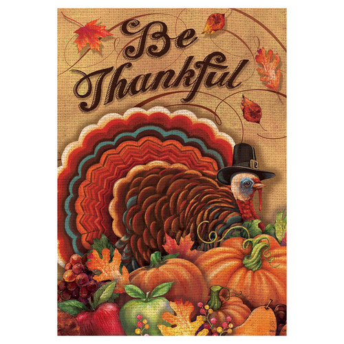 Thanksgiving Banner Flag - Be Thankful