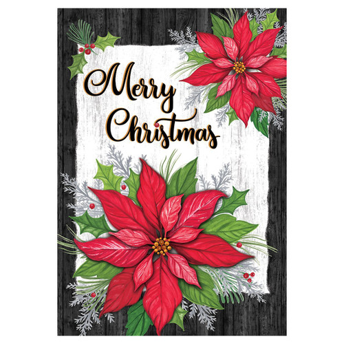 Christmas Banner Flag - Poinsettia Christmas