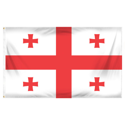 3ft x 5ft Georgia National Flag - Printed Polyester