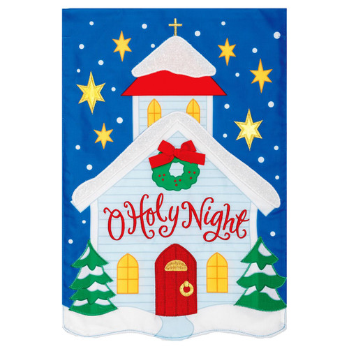 Christmas Garden Flag - O Holy Night