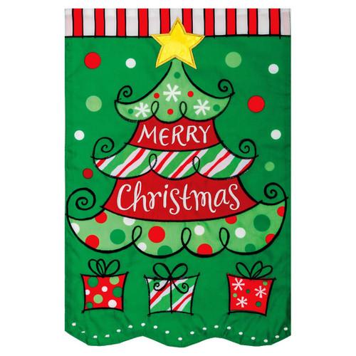 Christmas Garden Flag - Christmas Tree Presents