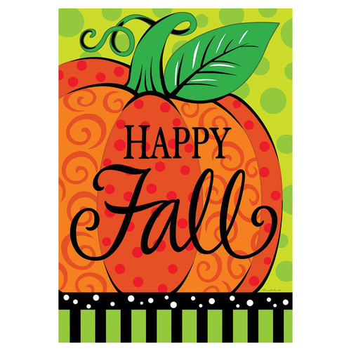 Fall Garden Flag - Whimsy Pumpkin